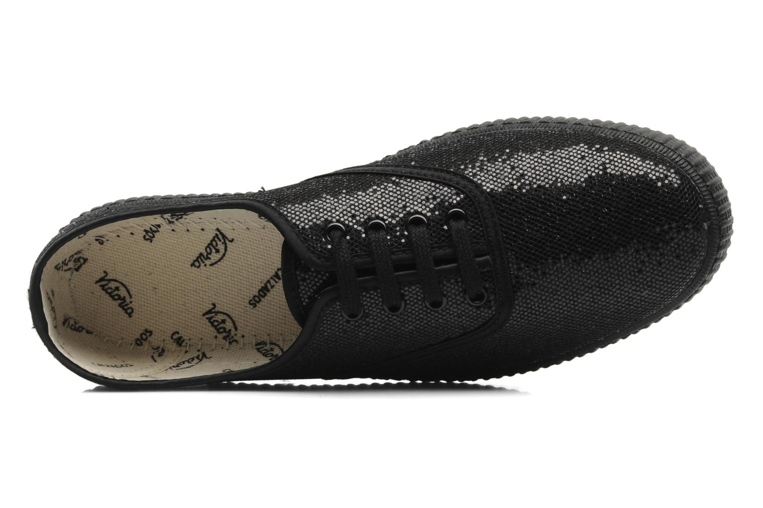 Trainers Victoria Glitter Black view from the left