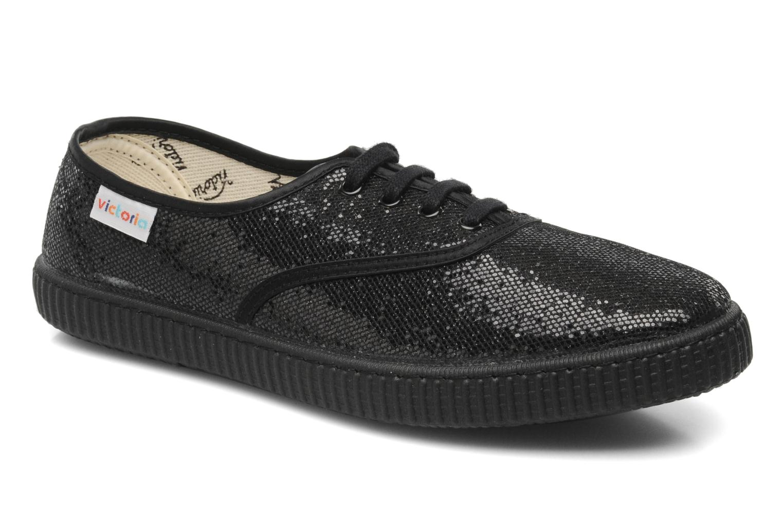 Trainers Victoria Glitter Black detailed view/ Pair view