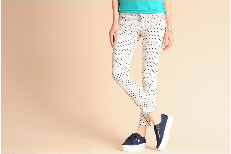 Sneakers Victoria Blucher Lona Plataforma Wit onder