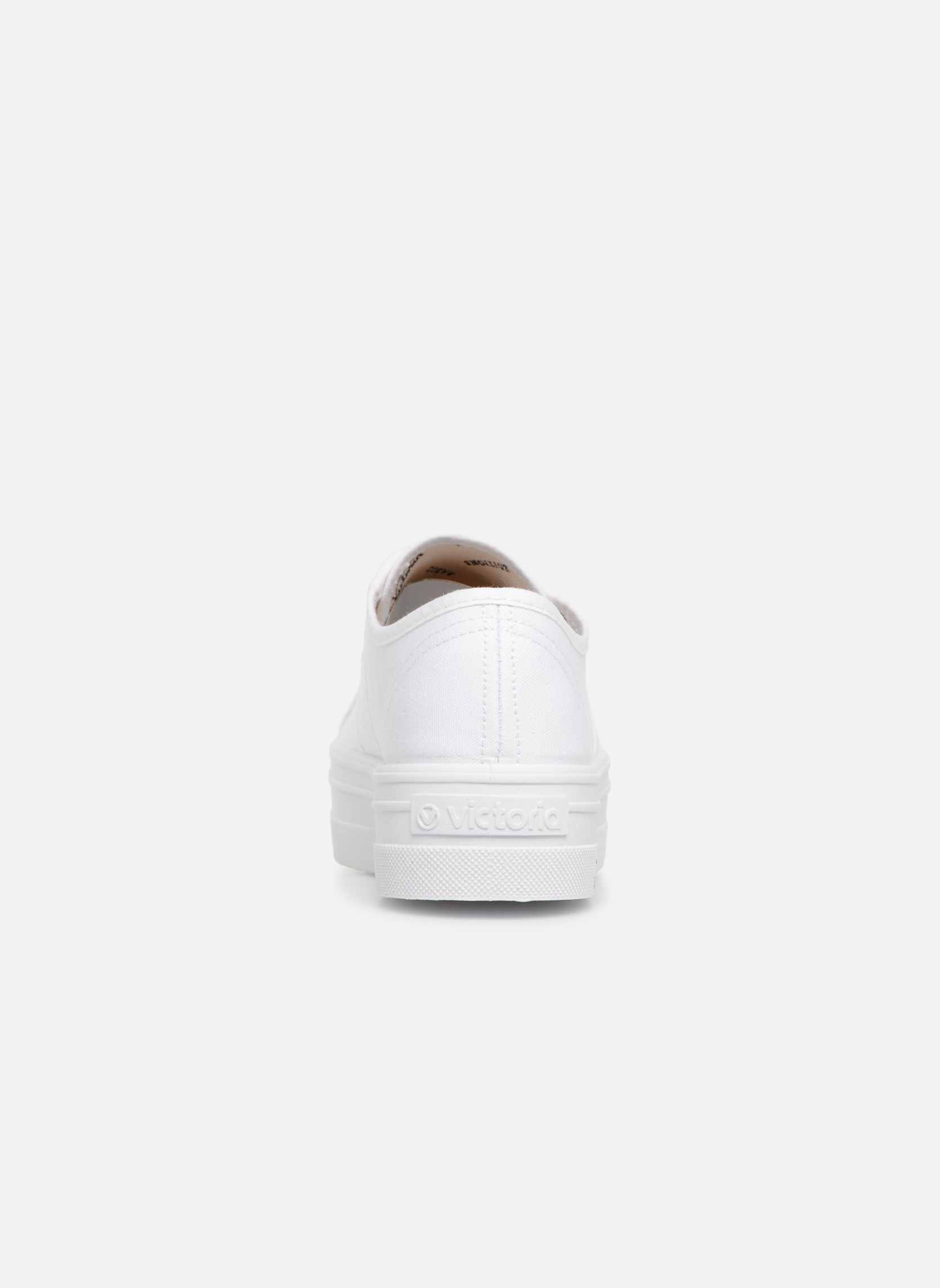 Sneakers Victoria Blucher Lona Plataforma Wit rechts