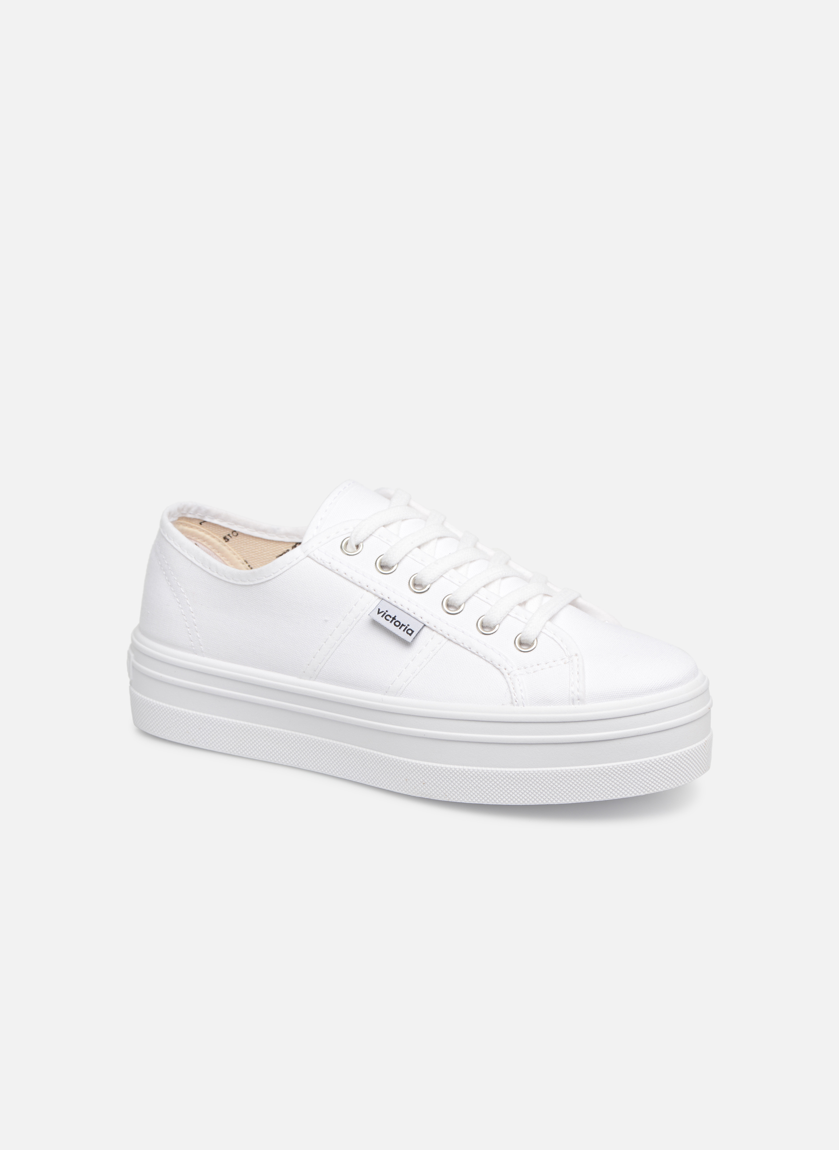 Sneakers Victoria Blucher Lona Plataforma Wit detail