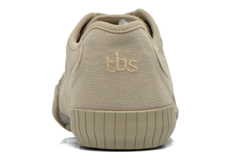 Baskets TBS Crocky Beige vue droite