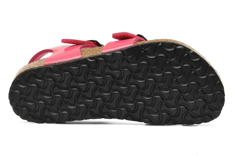 Sandales et nu-pieds Birkenstock Taormina Birko-Flor Rose vue haut