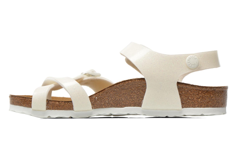 Sandals Birkenstock Taormina Birko-Flor White front view