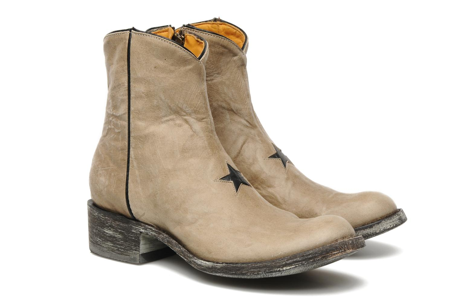 Ankle boots Mexicana Star Beige 3/4 view