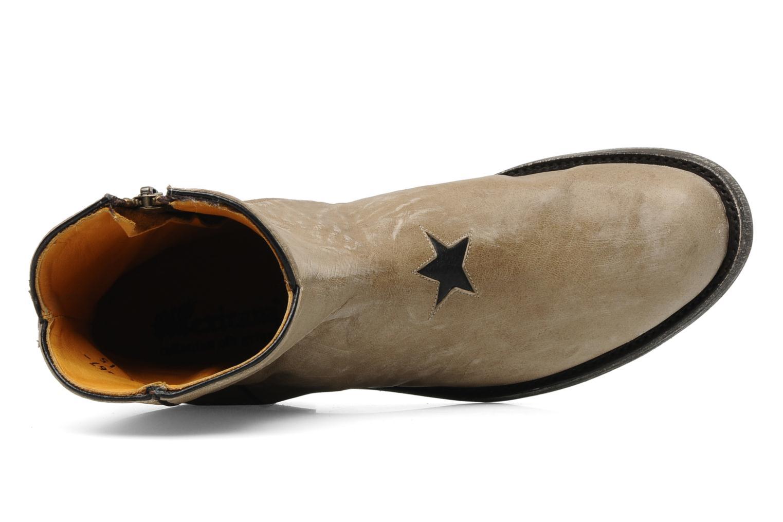 Botines  Mexicana Star Beige vista lateral izquierda