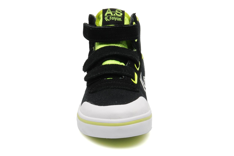 Baskets Feiyue As High Kid Scratch Neon pop Noir vue portées chaussures