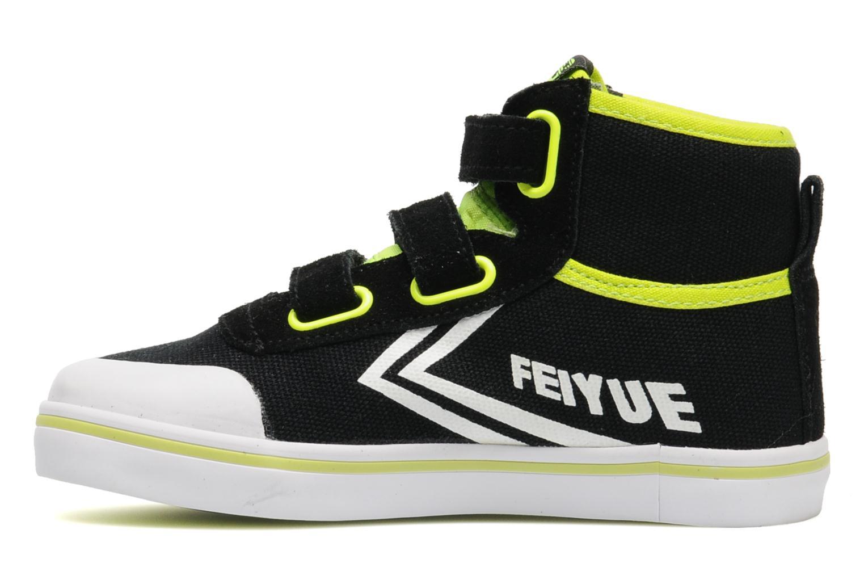 Baskets Feiyue As High Kid Scratch Neon pop Noir vue face