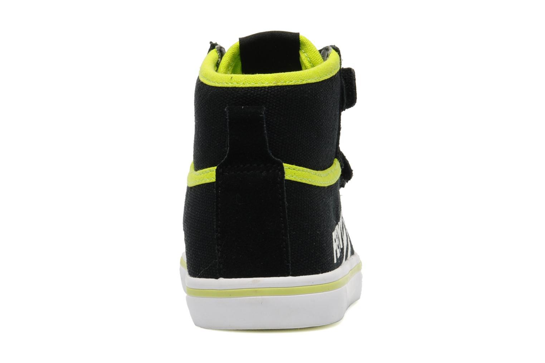 Baskets Feiyue As High Kid Scratch Neon pop Noir vue droite