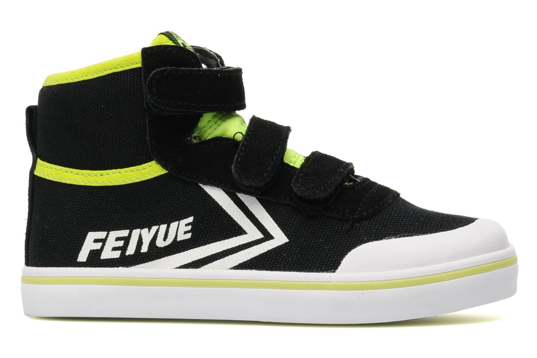Baskets Feiyue As High Kid Scratch Neon pop Noir vue derrière