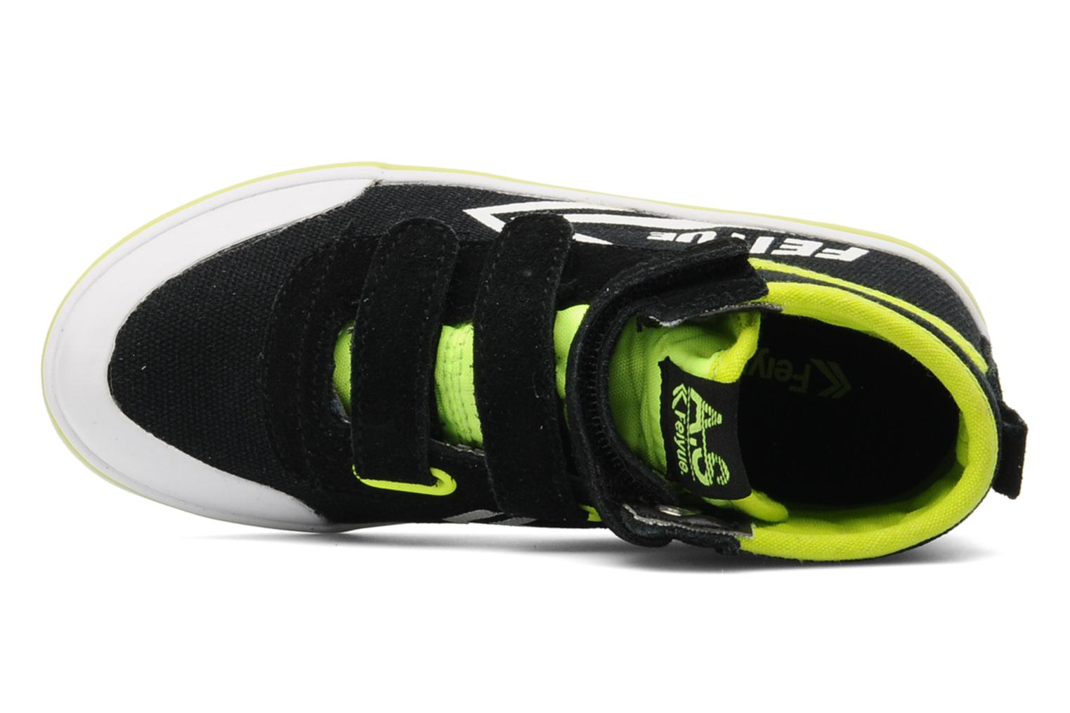 As High Kid Scratch Neon pop Black / White - Lime neon