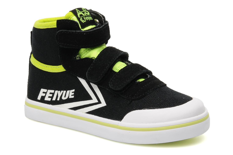 Baskets Feiyue As High Kid Scratch Neon pop Noir vue détail/paire