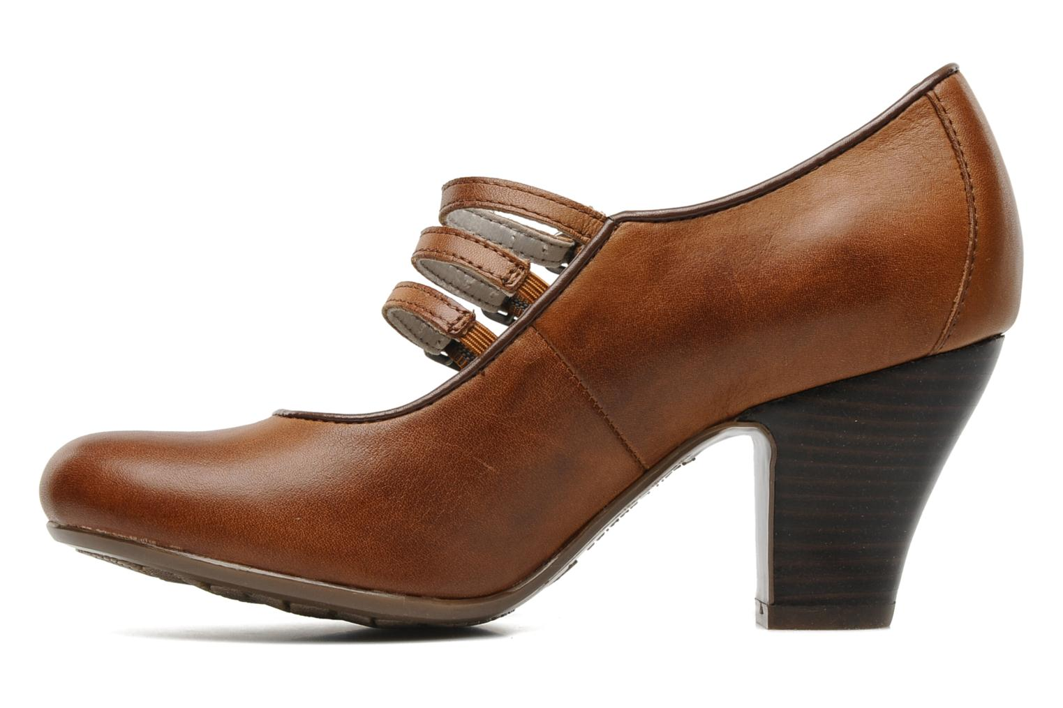 Pumps Hush Puppies Lonna Mary Jane Bruin voorkant