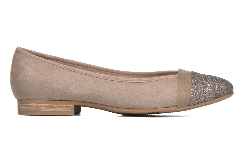 Ballerinas Jana shoes Molia beige ansicht von hinten