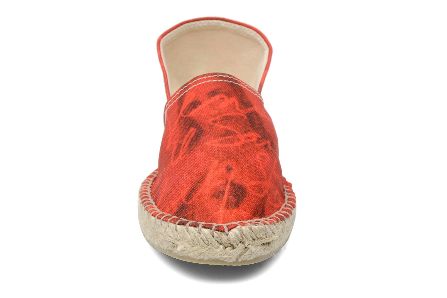 Espadrilles String Republic Jesus is Lord by Sockho W Rouge vue portées chaussures