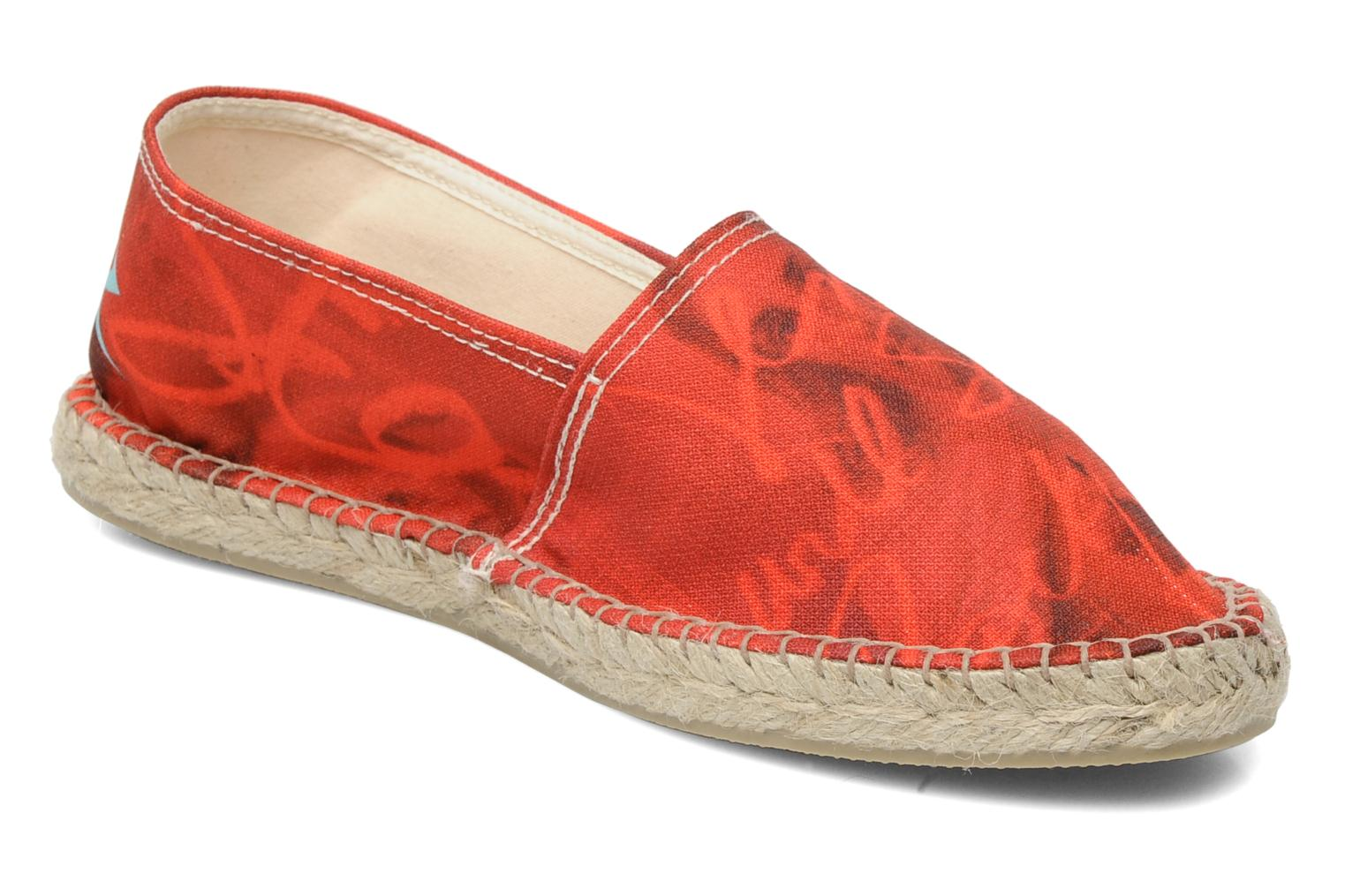 Espadrilles String Republic Jesus is Lord by Sockho W Rouge vue détail/paire