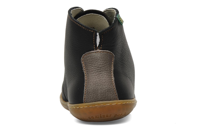 Zapatos con cordones El Naturalista Viajero N267 W Negro vista lateral derecha