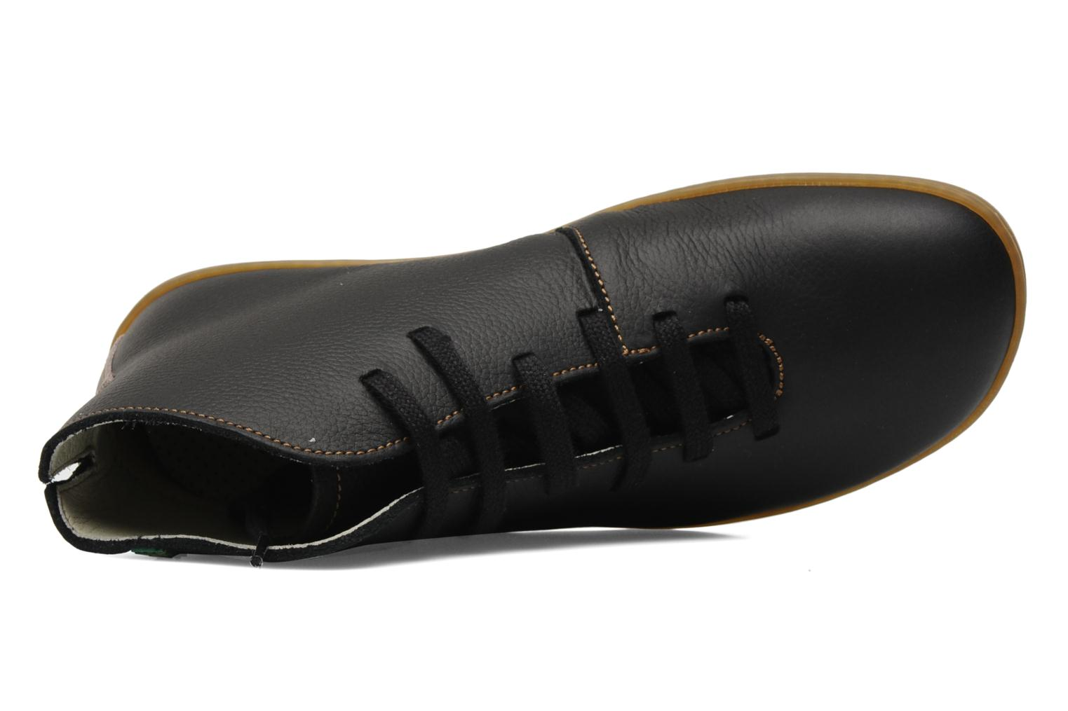 Lace-up shoes El Naturalista Viajero N267 W Black view from the left