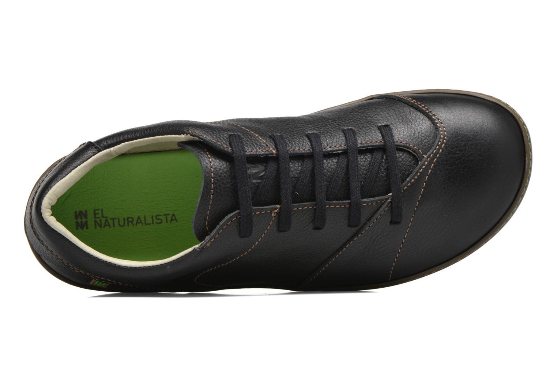 Zapatos con cordones El Naturalista Meteo N211 Negro vista lateral izquierda