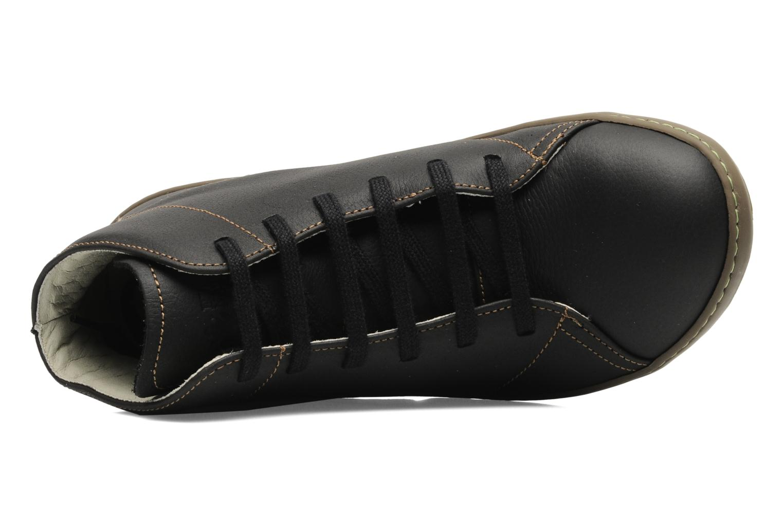 Chaussures à lacets El Naturalista Meteo N212 Noir vue gauche