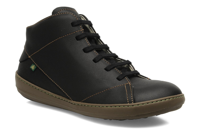 Snøresko El Naturalista Meteo N212 Sort detaljeret billede af skoene