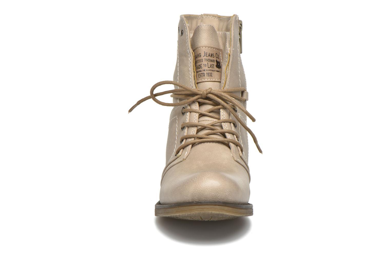 Boots en enkellaarsjes Mustang shoes Irina Beige model