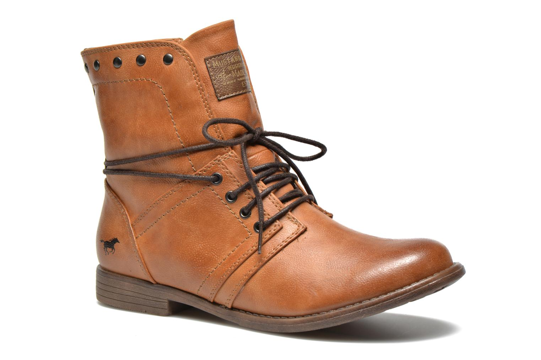 Bottines et boots Mustang shoes Mirjam Marron vue détail/paire
