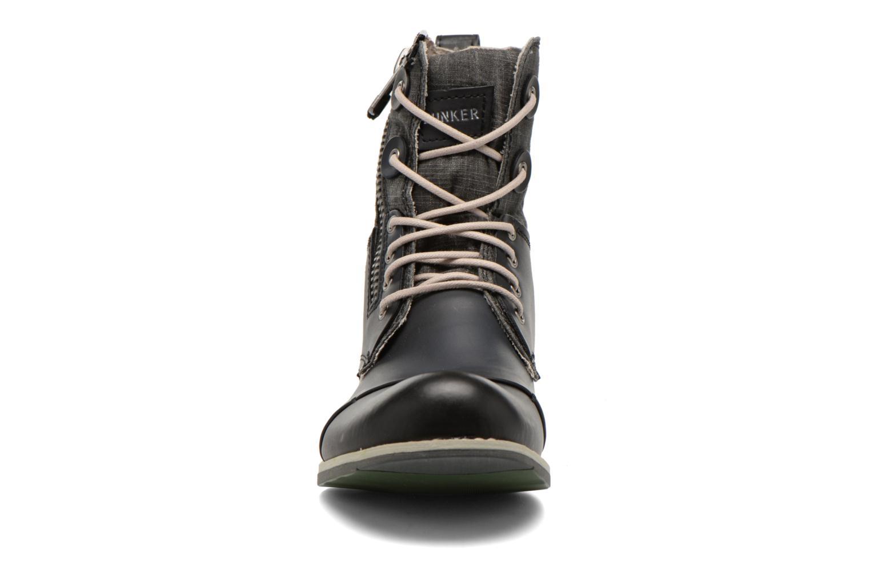 Bottines et boots Bunker Tara por Noir vue portées chaussures