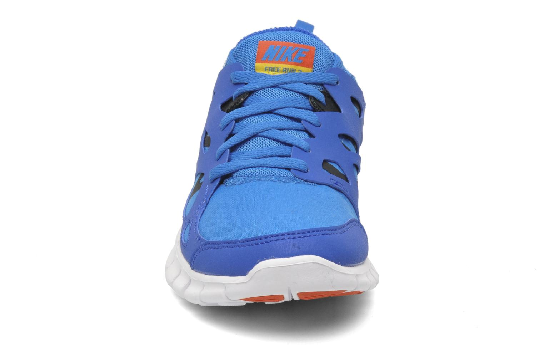Sportschuhe Nike Nike Free Run 2 (Gs) blau schuhe getragen