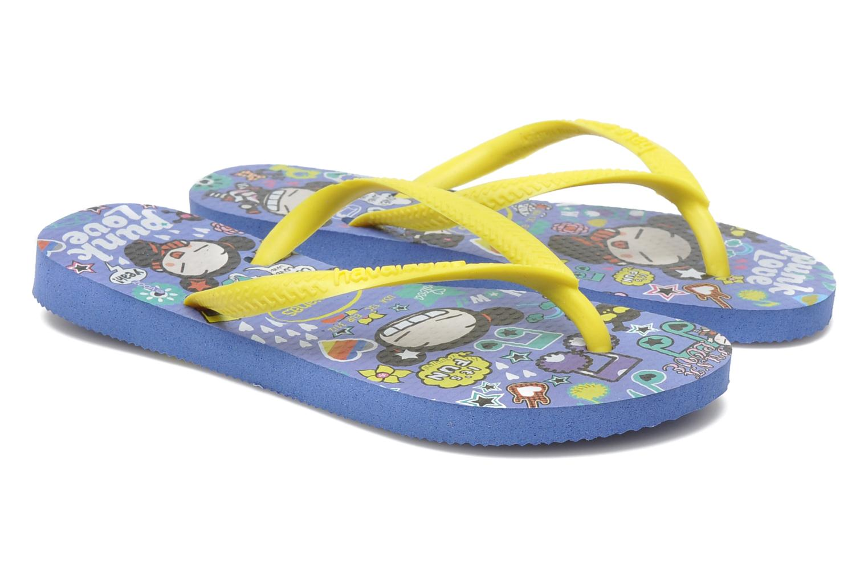 Flip flops Havaianas Kids Slim Pucca Blue 3/4 view