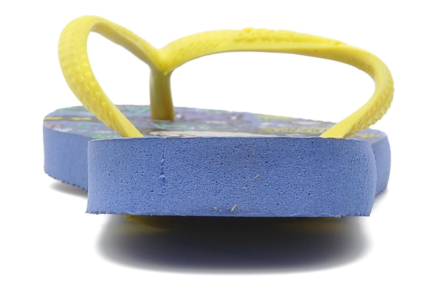 Flip flops Havaianas Kids Slim Pucca Blue view from the right