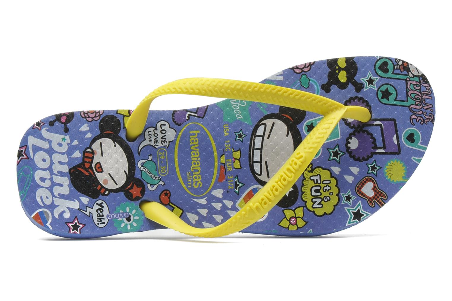 Flip flops Havaianas Kids Slim Pucca Blue view from the left