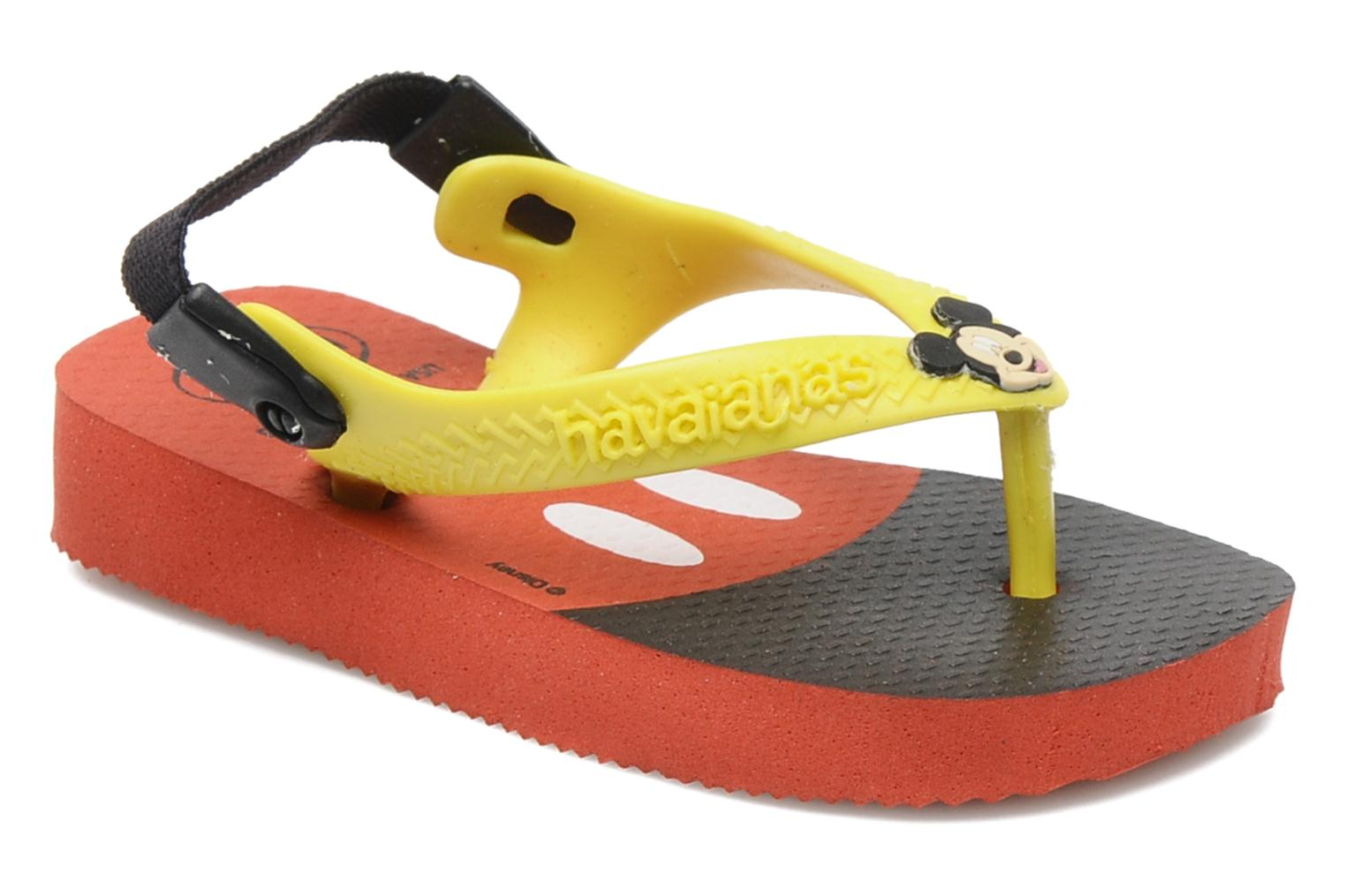 Flip flops Havaianas Baby Disney Classic Red detailed view/ Pair view