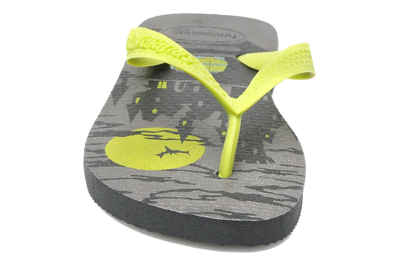 Tongs Havaianas Kids Scoobydoo Gris vue portées chaussures