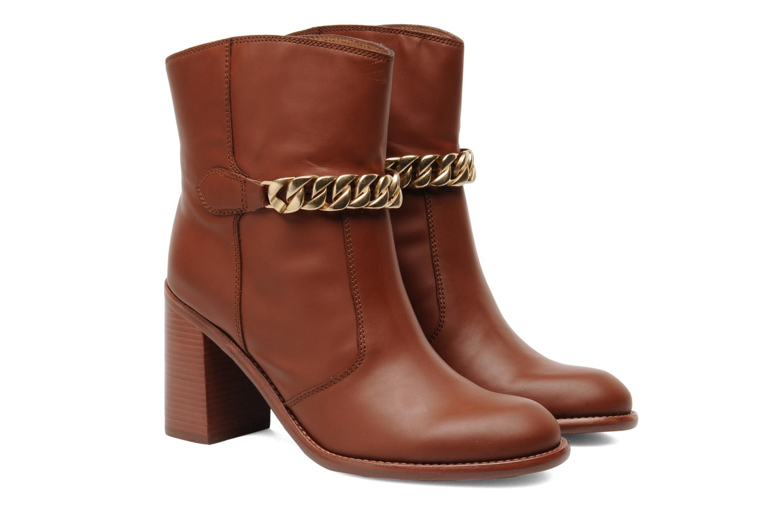 Ankle boots See by Chloé Penelope Brown 3/4 view