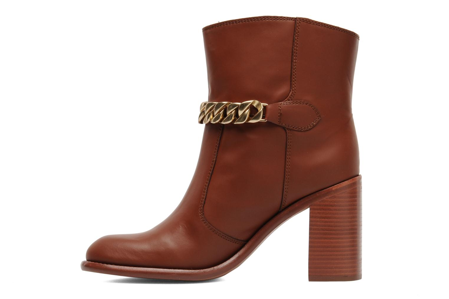 Ankle boots See by Chloé Penelope Brown front view