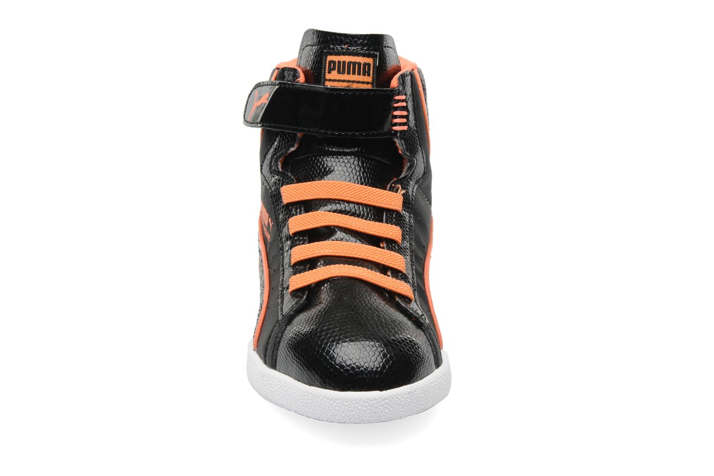 Sneaker Puma First Round Animal V Kids schwarz schuhe getragen