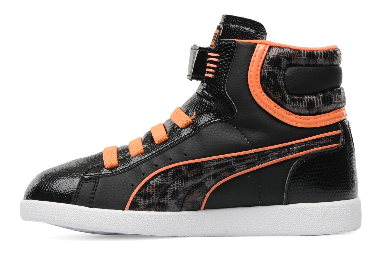 Sneaker Puma First Round Animal V Kids schwarz ansicht von vorne