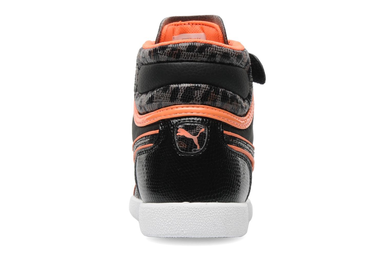 Sneaker Puma First Round Animal V Kids schwarz ansicht von rechts