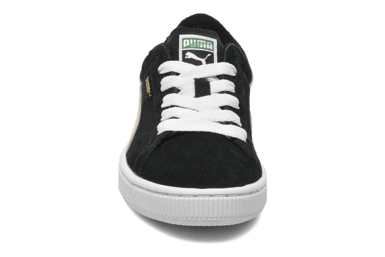 Baskets Puma Suede Jr. Noir vue portées chaussures