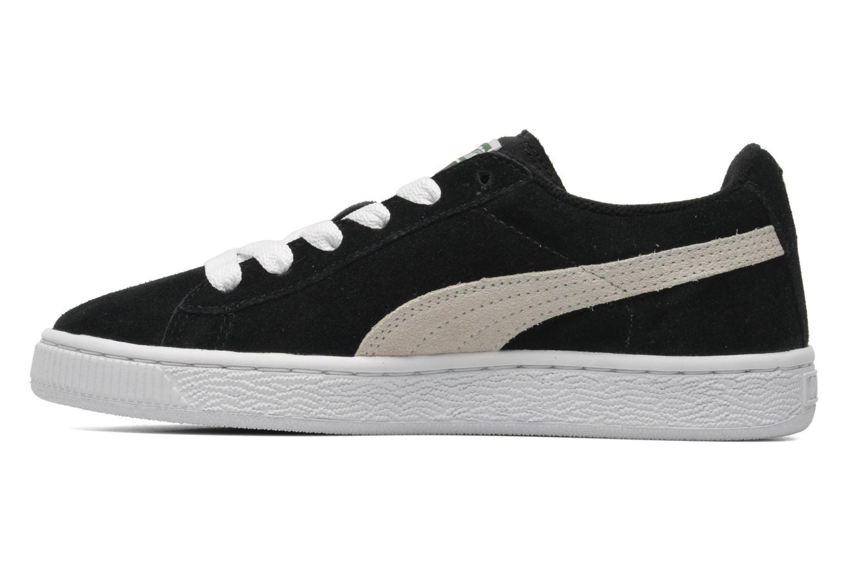 Sneaker Puma Suede Jr. schwarz ansicht von vorne