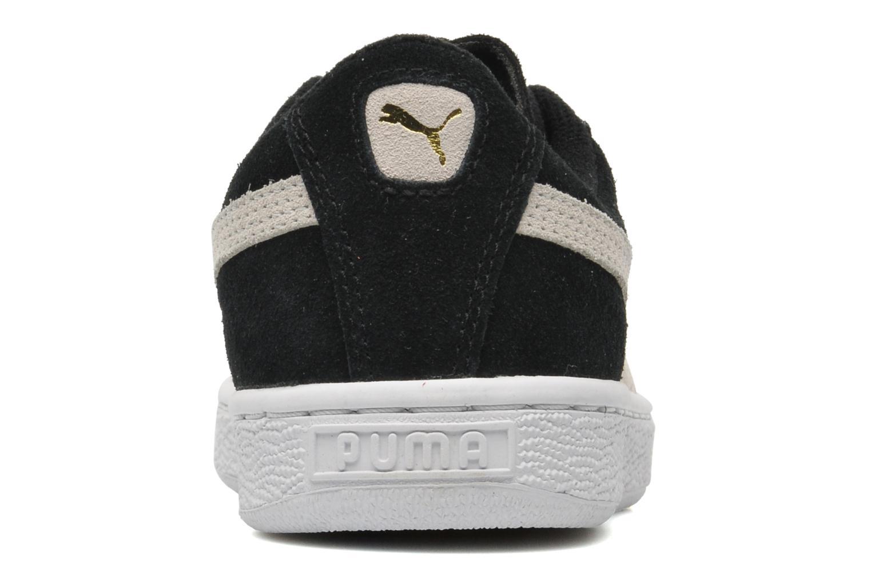 Deportivas Puma Suede Jr. Negro vista lateral derecha