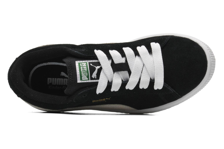 Sneaker Puma Suede Jr. schwarz ansicht von links