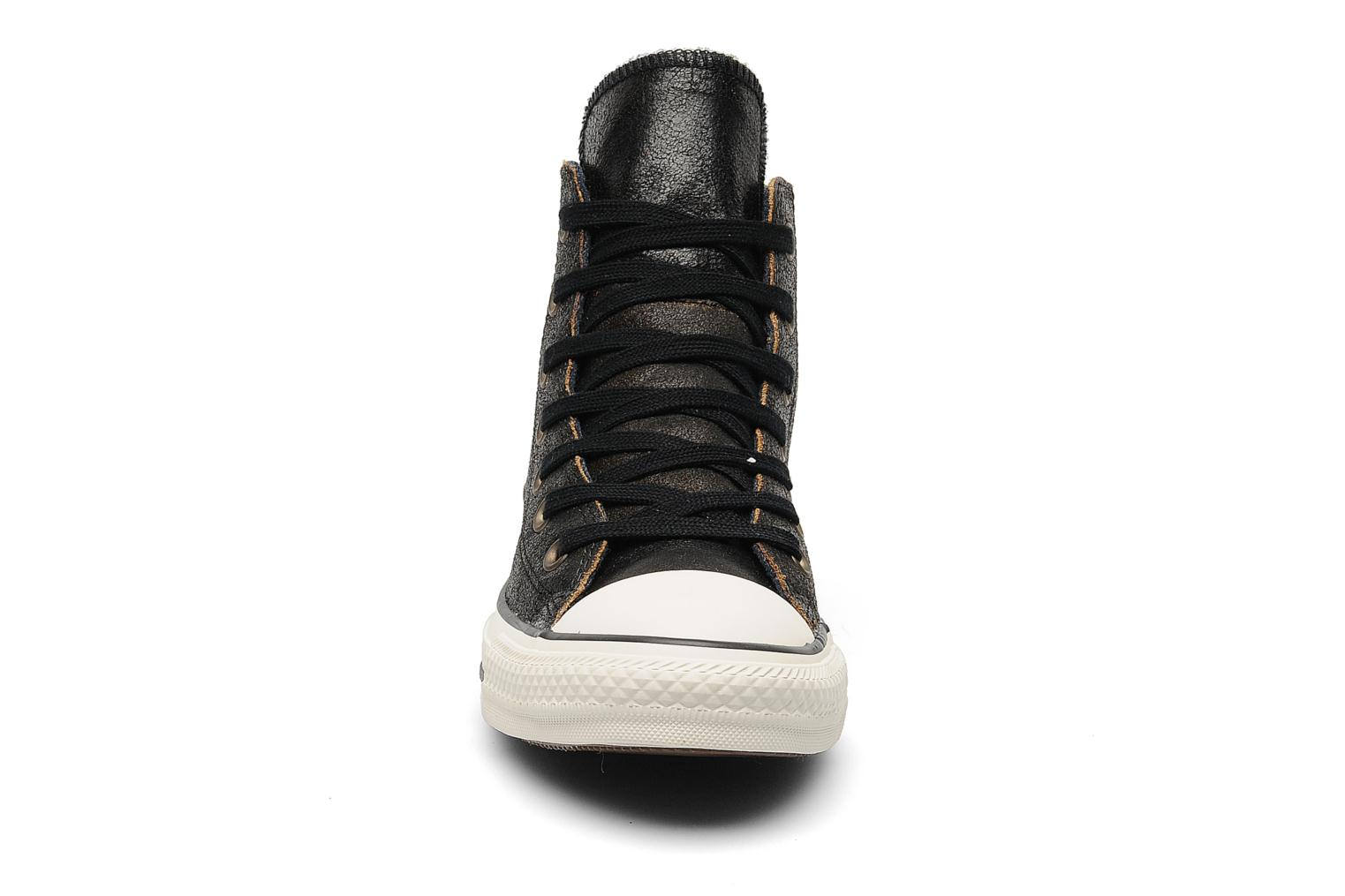 Baskets Converse Chuck Taylor All Star Side Zip Leather Hi W Noir vue portées chaussures