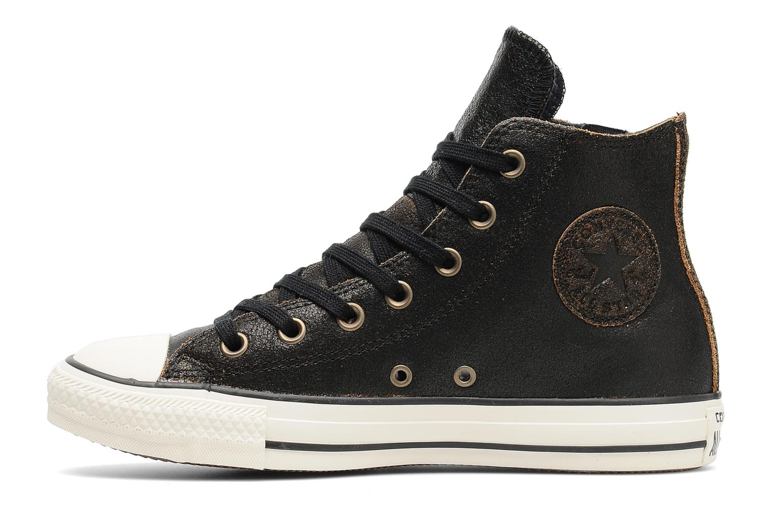 Baskets Converse Chuck Taylor All Star Side Zip Leather Hi W Noir vue face