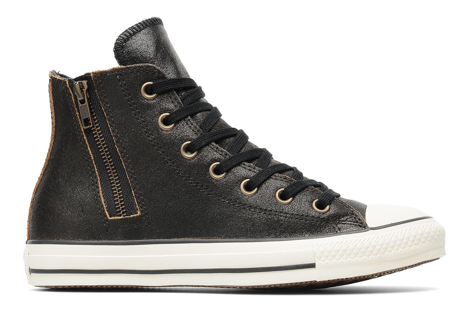 Baskets Converse Chuck Taylor All Star Side Zip Leather Hi W Noir vue derrière
