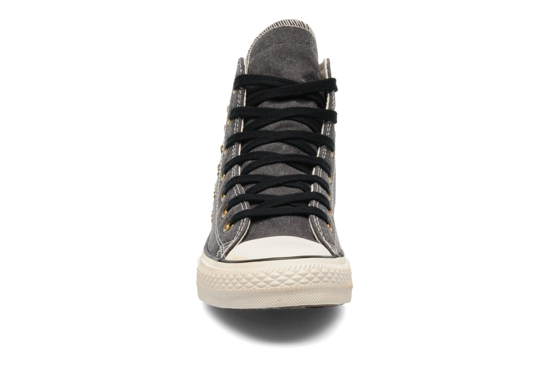 Baskets Converse Chuck Taylor All Star Collar Studs Canvas Hi W Noir vue portées chaussures