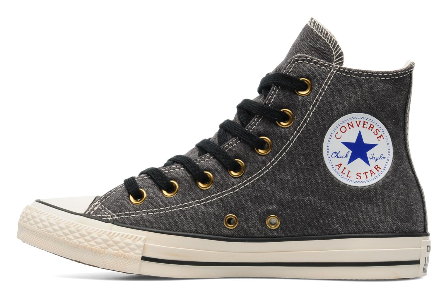 Baskets Converse Chuck Taylor All Star Collar Studs Canvas Hi W Noir vue face