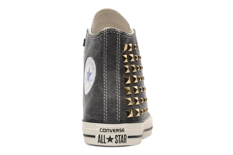 Baskets Converse Chuck Taylor All Star Collar Studs Canvas Hi W Noir vue droite