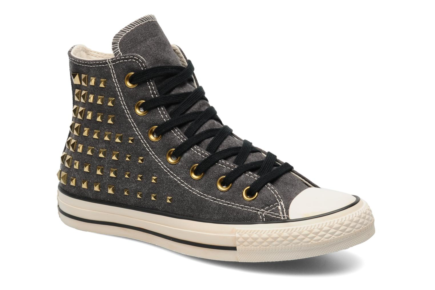 Baskets Converse Chuck Taylor All Star Collar Studs Canvas Hi W Noir vue détail/paire